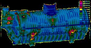 chaudronnerie - primagaz - citerne entérrée - analyse thermo-élastique et mécanique