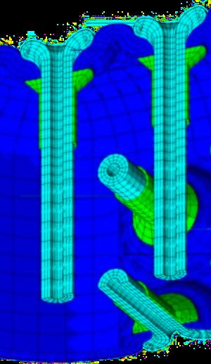 automobile - composite - matériau anisotrope - réservoir GNV - analyse statique non-linéaire
