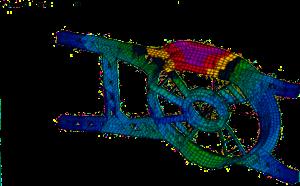 automobile - injection plastique - analyse dynamique - châssis groupe moto-ventilateur