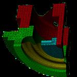 maillage - analyse non-linéaire - capteur pression membrane